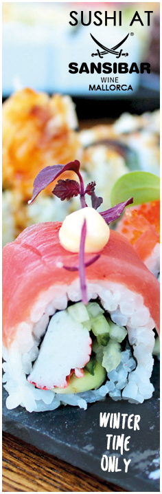 Sushi at Sansibar Wine Mallorca